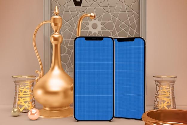 Makieta projektu inteligentnego telefonu ramadan