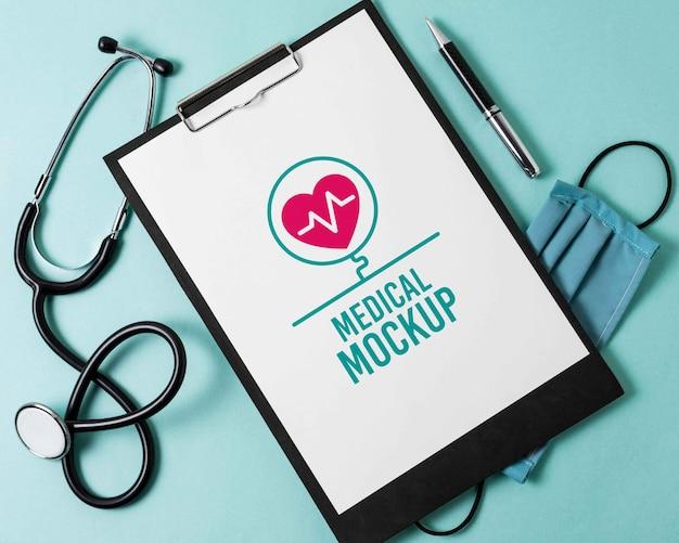 Makieta projektu notatnika medycznego