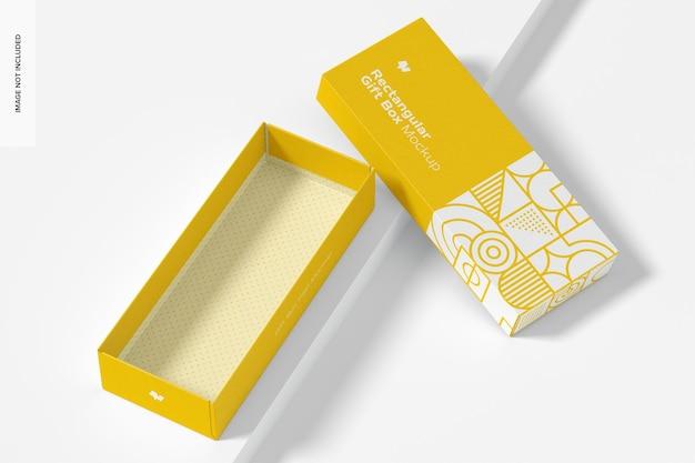 Makieta prostokątnego pudełka na prezenty