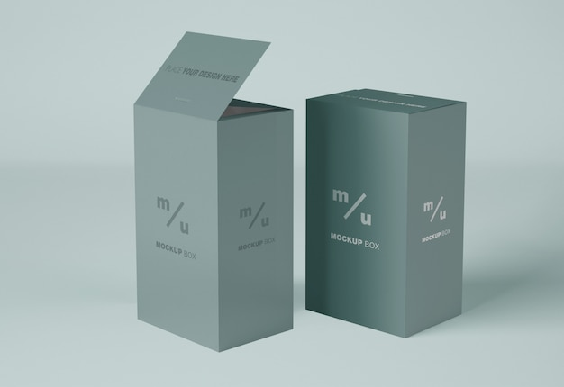 Makieta prostokątnych pudełek papierowych