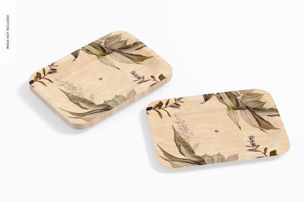 Makieta prostokątnych talerzy deserowych