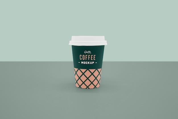 Makieta przedniej filiżanki kawy
