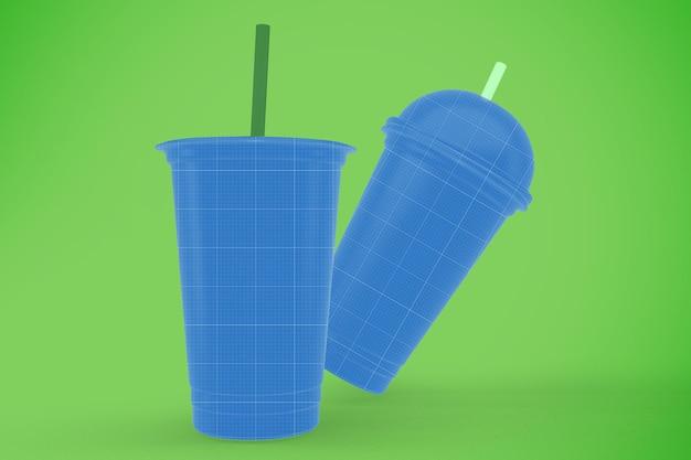 Makieta przezroczystego plastikowego kubka