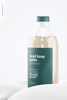 Makieta przezroczystej butelki mydła do rąk