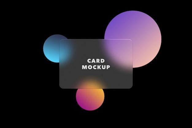 Makieta przezroczystej karty