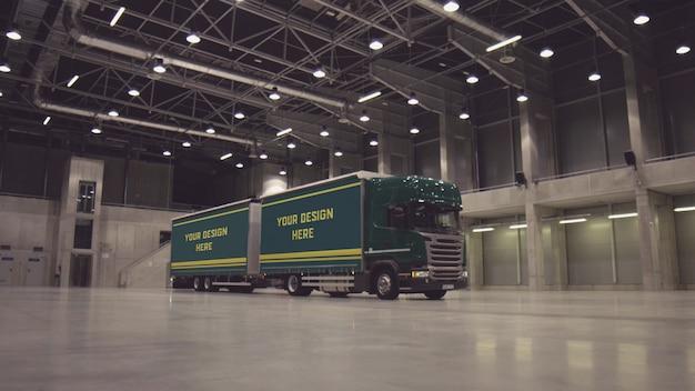 Makieta przyczepy ciężarówki