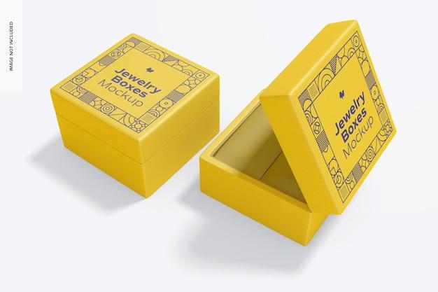 Makieta pudełek na biżuterię, widok z prawej strony