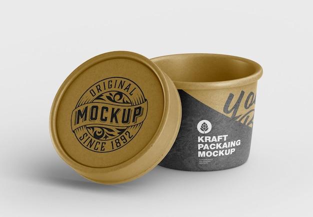 Makieta pudełka kraft food cup makieta
