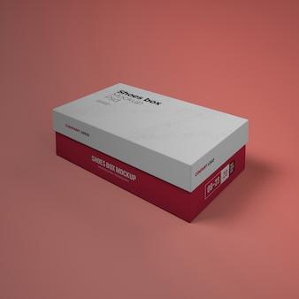 Makieta pudełka na buty z edytowalnym wzorem psd
