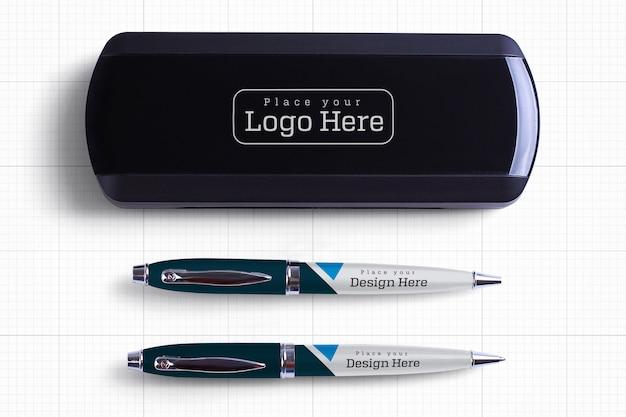 Makieta pudełka na długopisy
