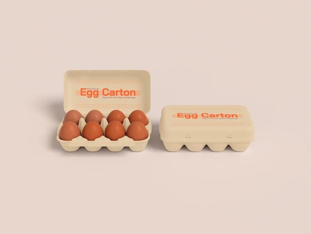 Makieta pudełka na jajka