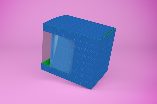Makieta pudełka na kubek