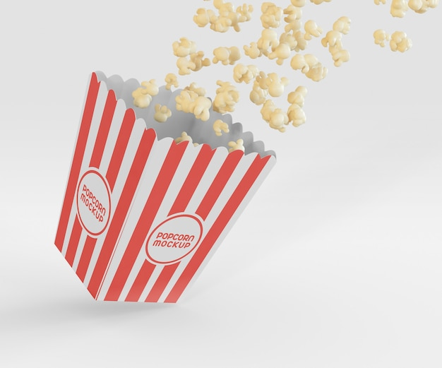 Makieta pudełka na popcorn