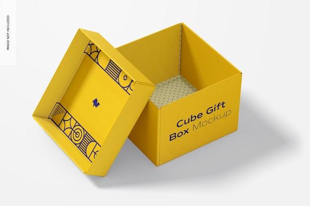 Makieta pudełka na prezent cube