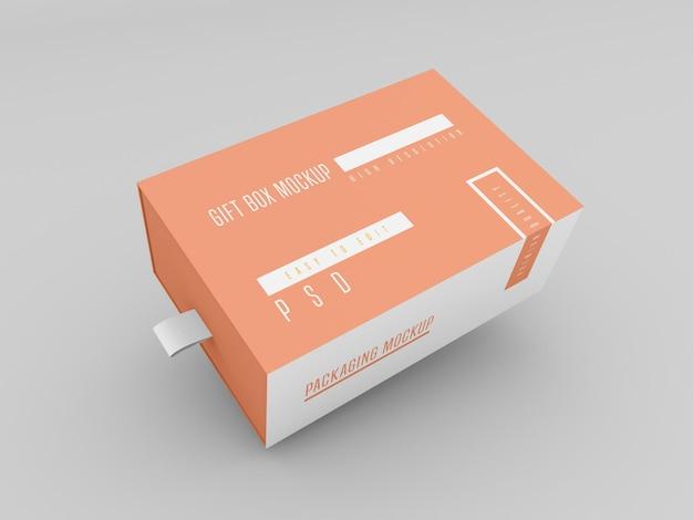 Makieta pudełka na prezent