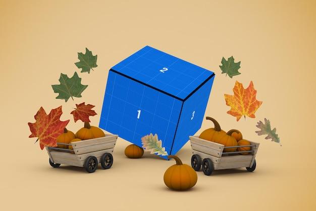 Makieta pudełka na święto dziękczynienia