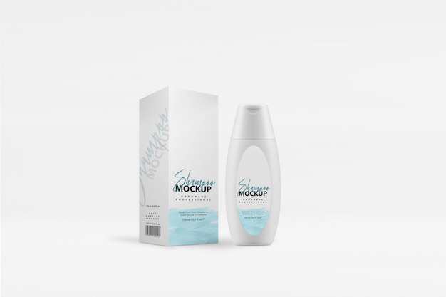 Makieta pudełka na szampon