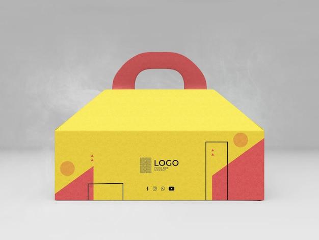Makieta pudełka na żywność 3d realistyczna