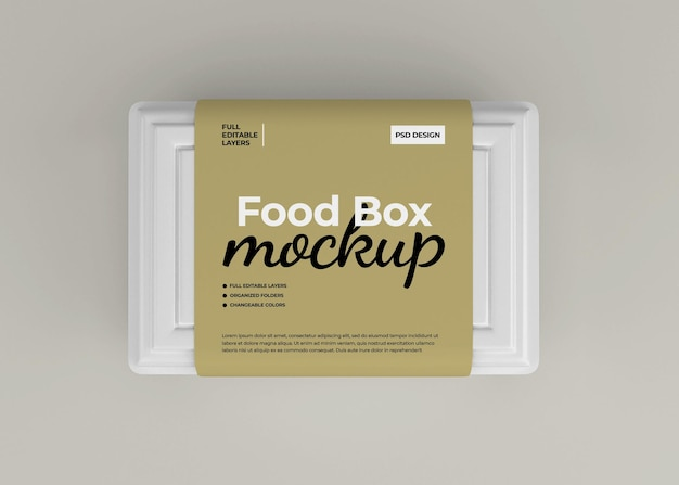 Makieta pudełka na żywność na wynos do pakowania fast foodów