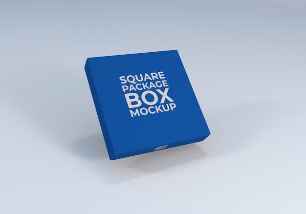 Makieta pudełka o minimalnym kwadratowym opakowaniu