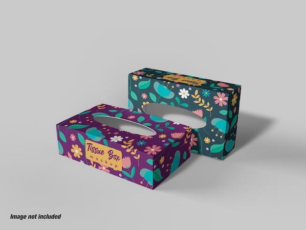 Makieta pudełka z bibuły