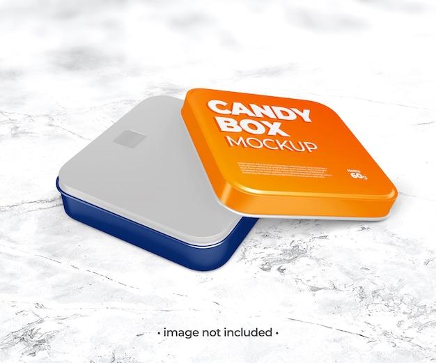 Makieta pudełka z cukierkami