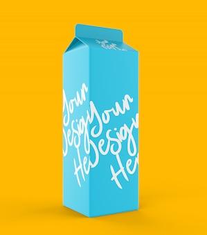 Makieta pudełka z papieru mlecznego