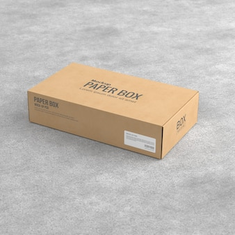 Makieta pudełka z papieru