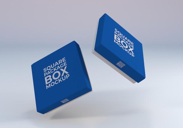Makieta pudełka z ruchomym kwadratem