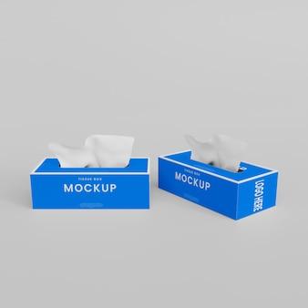 Makieta pudełka z tkankami