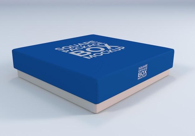 Makieta pudełko kwadratowych pakiet