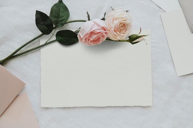 Makieta pustego szablonu białej karty