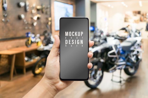 Makieta pusty telefon komórkowy idealny dla dealerów motocykli, serwis motocykli online