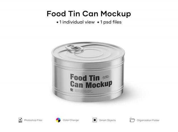 Makieta puszki z żywnością