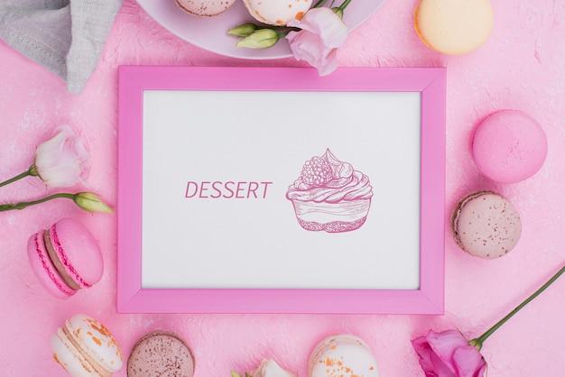 Makieta pysznego deseru