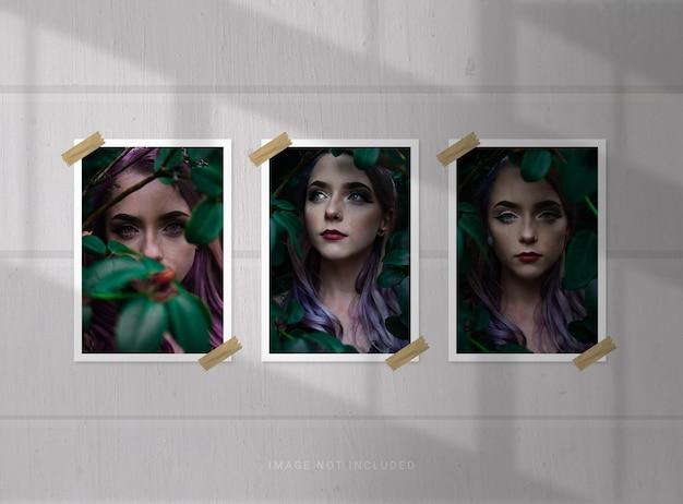 Makieta ramki na zdjęcia portretowe