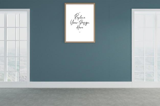 Makieta ramki na zdjęcia stojącej na ścianie