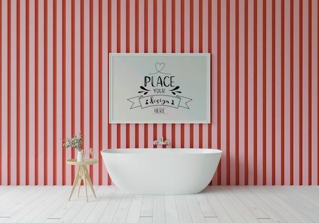 Makieta ramki plakatowej na wnętrze łazienki