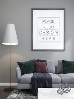 Makieta ramki plakatowej w salonie