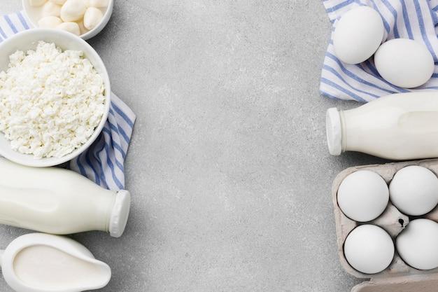 Makieta ramki produktów mlecznych