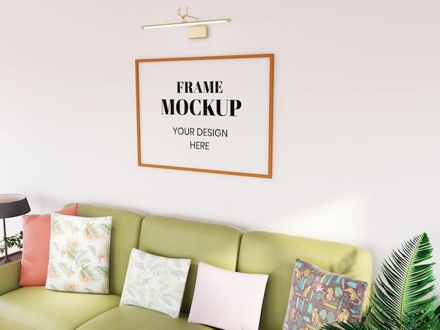 Makieta ramki realistyczna w salonie