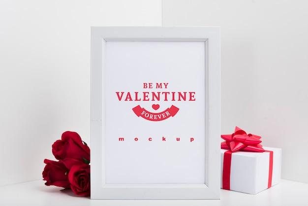 Makieta ramki z valentine koncepcji
