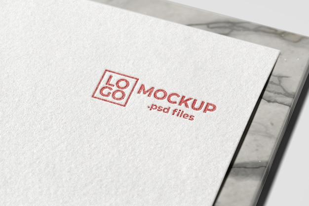 Makieta realistyczne logo