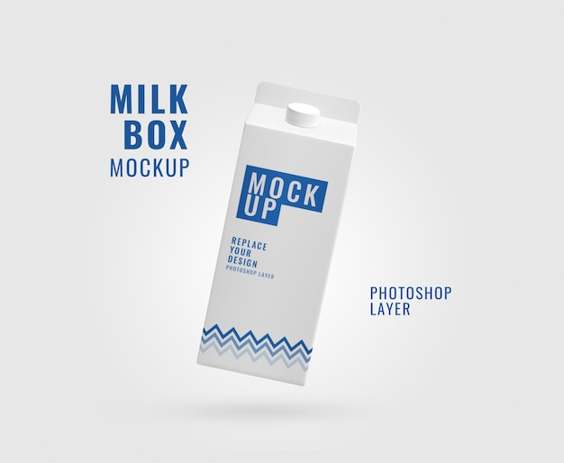 Makieta realistyczne opakowanie mleka