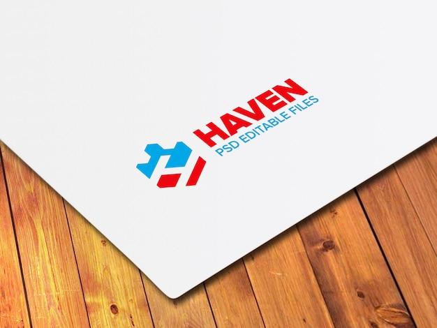 Makieta realistyczne papierowe logo