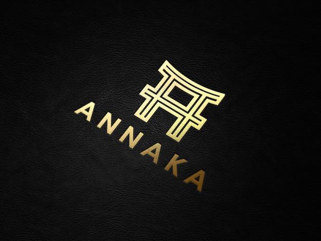 Makieta realistyczne złote logo