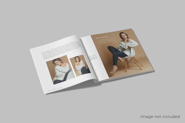 Makieta realistycznego magazynu kwadratowego na białym tle