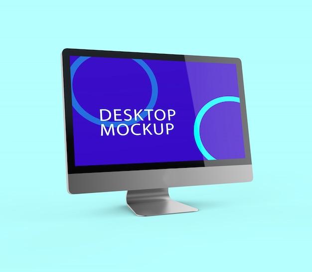 Makieta realistyczny ekran pulpitu