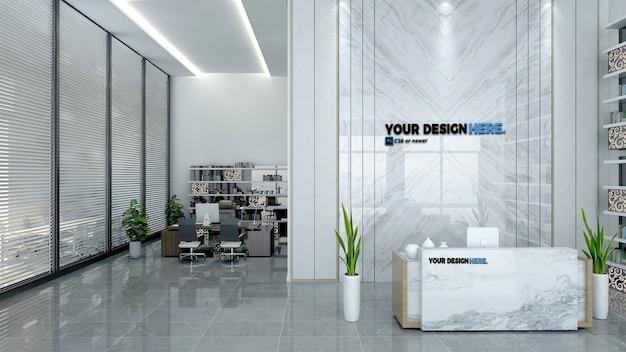 Makieta recepcji biurowej firmy