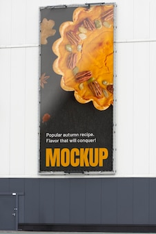 Makieta reklamy miejskiej na zewnątrz